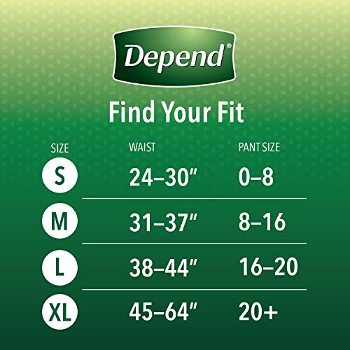 Depend FIT-FLEX Incontinence Underwear for Women, Disposable, Maximum Absorbency, Blush, X-Large (48 Count)