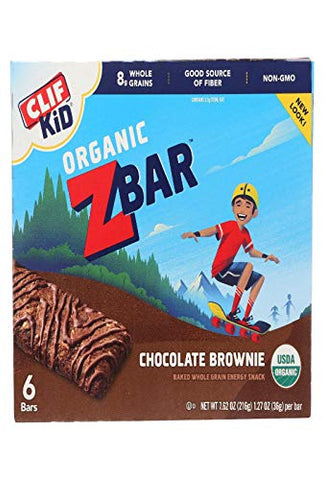 Clif Bar Kid Z-Bar Organic, Chocolate Brownie 6 bars 7.62 oz/216g, 1.27 oz/36g per bar