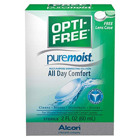 Opti-Free Puremoist Multi-Purpose Disinfecting Solution - 2 oz, Pack of 5