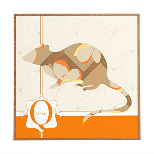 "Deny Designs Jennifer Hill, Mister Quoll, Framed Wall Art, Small, 12""x 12"""