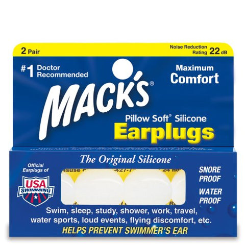 Mack's Pillow Soft Earplugs White 2 Pairs (Pack of 3)