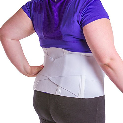 BraceAbility Women's Back Brace for Female Lower Back Pain Treatment & Lumbar Support (2XL)