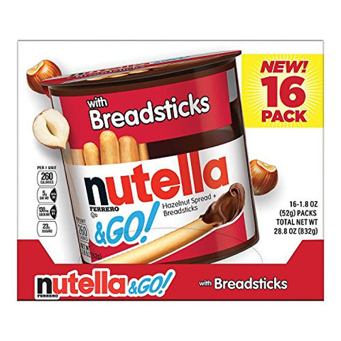 Nutella & Go 16 pk. (pack of 3) A1