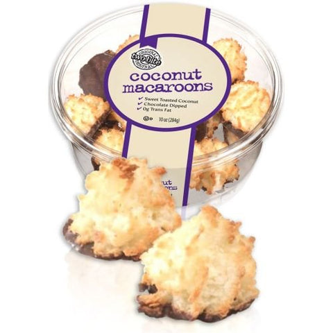 Two Bite Chocolate Dipped Coconut Macaroons, 25 Ounce -- 6 per case.