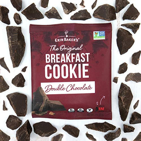 Erin Baker's Breakfast Cookies, Double Chocolate, Whole Grain, Non-GMO, 3-ounce (Pack of 12)
