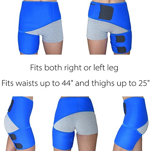 Hip Brace for Men and Women - Groin Support for Sciatica Pain Relief Thigh Hamstring Quadriceps Hip Arthritis SI Joint Injuries Hip Flexor Pulled Muscles - Best Compression Groin Sciatic Wrap