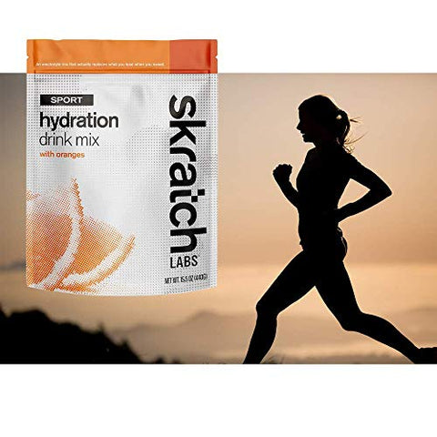 SKRATCH LABS Sport Hydration Drink Mix, Oranges, 20 Serving Resealable Bag