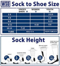 Image of Yacht & Smith 6 Pairs Men and Women Value Pack of Ring Spun Cotton Crew Diabetic Nephropathy Socks