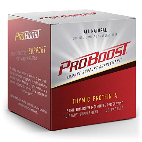 ProBoost, Thymic Protein A (TPA), 30 Packets with 4 mcg TPA/Packet - Immune Support Supplement by Genicel, Inc.
