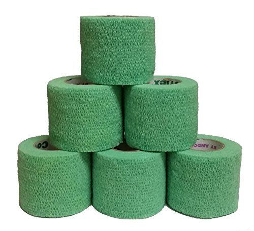 Coflex Cohesive Bandage Green 2'' x 5YD (6 Roll Pack)