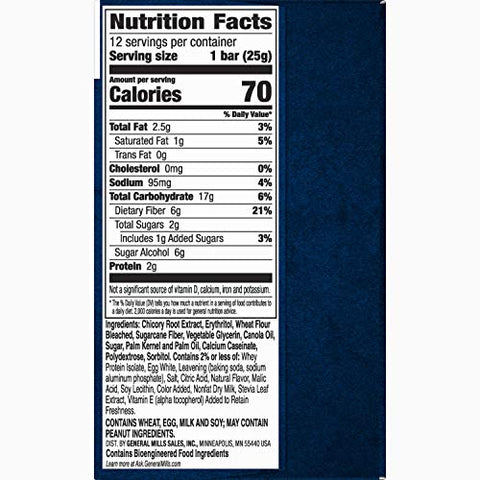 Fiber One 70 Calorie Soft-Baked Bar, Lemon Bar, 12 Fiber Bars, 10.6 oz (Value Pack)