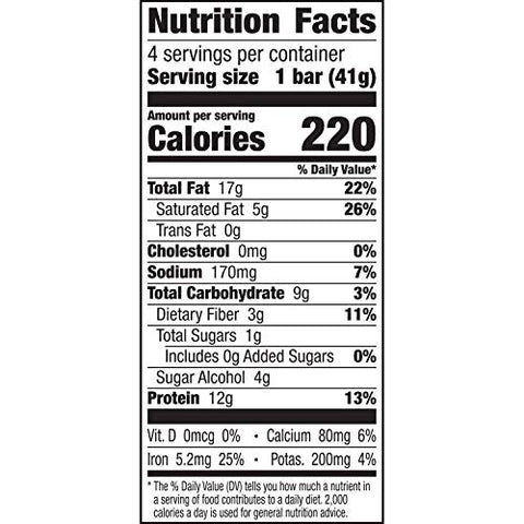 :ratio KETO friendly Lemon Almond Crunchy Bar, Gluten Free, 4 ct Box