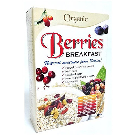 Radiant Breakfast Organic 400g (628MART) (Berries, 12 Count)