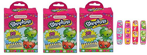 Shopkins Bandages 20 count Box - 3 boxes