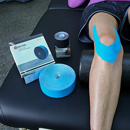 Body Sport Physio Tape, Kinesiology Tape to Support Muscles and Joints - 2 in x 5.5 yds - Blue