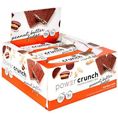 Power Crunch Protein Energy, Peanut Butter Fudge Butter Fudge, 1.4 Ounce (12 Count)