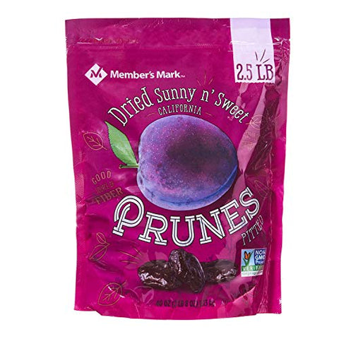 Member's Mark Dried Sunny n' Sweet California Prunes Pitted 2.5 lbs.(pack of 4) A1