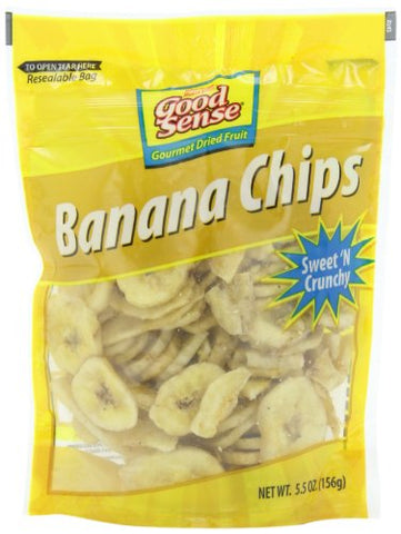 Good Sense Banana Chips, 5.5-Ounce (Pack of 12)