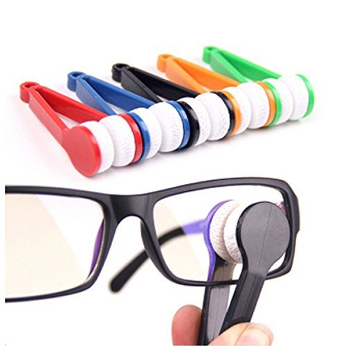 Joinwinâ® 5 Pieces Mini Sun Glasses Eyeglass Microfiber Spectacles Cleaner Soft Brush Cleaning Tool