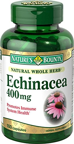 Nature's Bounty Natural Whole Herb Echinacea 400mg, 100 Capsules  (Pack of 2)