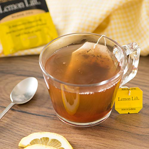 Bigelow Lemon Lift Black Tea Bags 20 Count Box (Pack Of 6), Caffeinated Black Tea, 120 Tea Bags Tota
