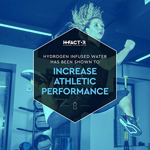 HFactor Hydrogen Infused Water, 20 Ounce (12 count) Workout Recovery Drink, Contains Molecular Hydrogen to Support Athletic Performance