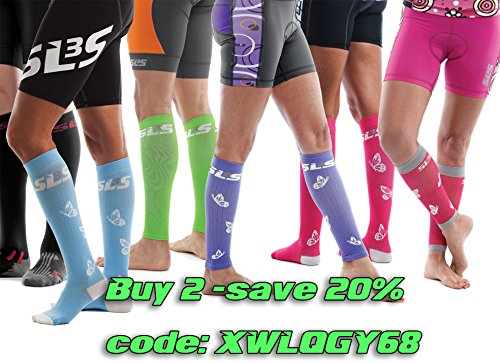 SLS3 Women Compression Socks | Pregnancy Compression Socks Violet S/M