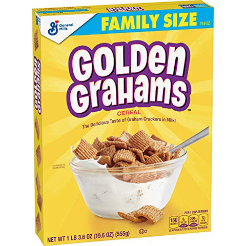 Golden Grahams Cereal, Graham Cracker Taste, Whole Grain, 19.6 oz