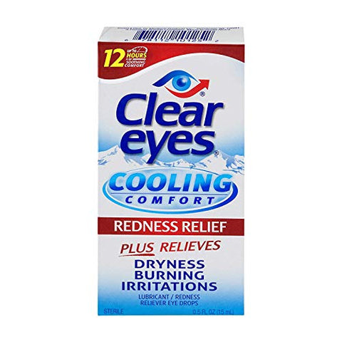 Clear Eyes Cooling Comfort Redness Relief Eye Drops - 0.5 oz, Pack of 4