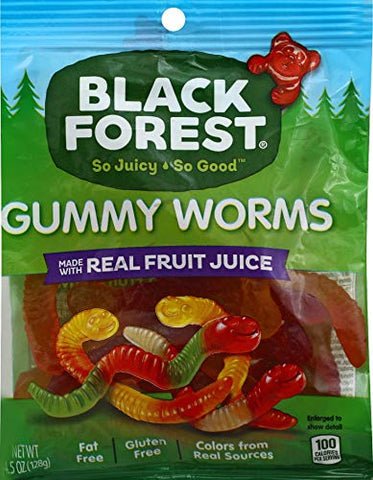 Black Forest Gummy Worms Candy, 4.51 oz