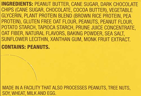 MUNK PACK Peanut Butter Chocolate Chip Protein Cookie 6 Count, 2.96 OZ
