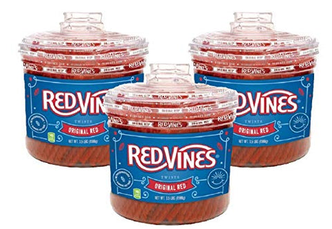 Red Vines- Original Red Twists (Original Red, 3-pack (10.5 LB))