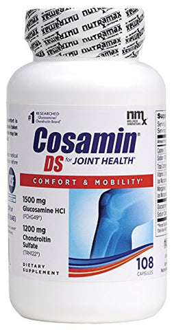 Cosamin Ds #1 Researched Glucosamine And Chondroitin Joint Health Supplement, 108 Capsules