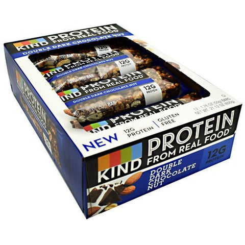 Kind Snacks - Protein Bar, Double Dark Chocolate Nut - 1.76oz each - Box of 12 - SUMMER BUNDLE WITH COLD PACK - 3 Boxes - (Product image may vary based on Manufacturer's updates)