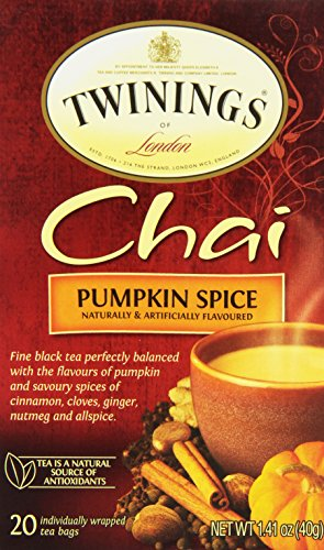 Twinings of London Pumpkin Spice Chai Tea Bags, 20 Count