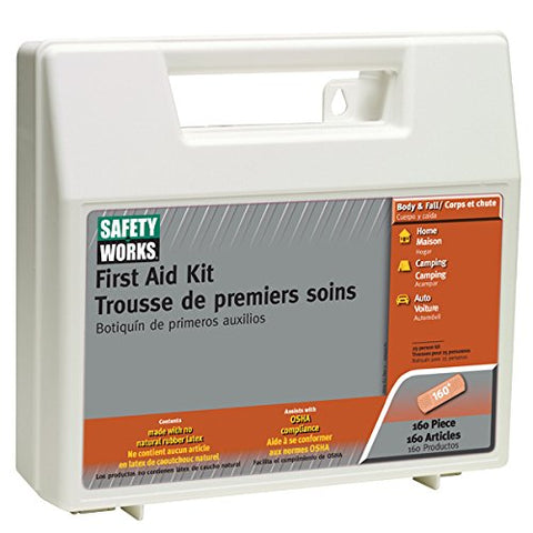 Safety Works 10049585 First Aid Kit, 160-Piece