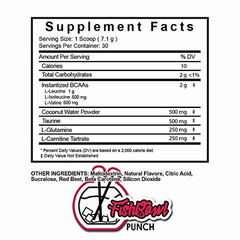 HydroHolic Amino Acids + Coconut Water - 30 Servings - Hydration and BCAAs Powder Drink Mix Supplement, Lemon Shakeup, Fishbowl Punch and Taffy Twist (Fishbowl Punch)
