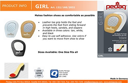 Pedag Get A Grip Girl Forefoot Pads, Tan Leather, Pack of 3