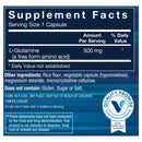 Image of BodyTech LGlutamine (Freeform Amino Acid) 500 MG AntiCatabolic Recovery Agent, Also Supports Immune Function (100 Capsules)