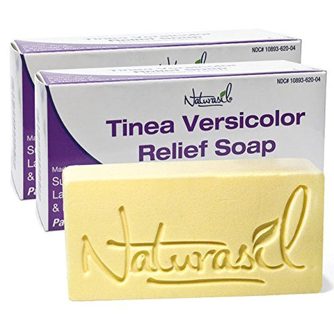 Naturasil Tinea Versicolor 10% Sulfur Soap - 4oz Bars - 2 Pack