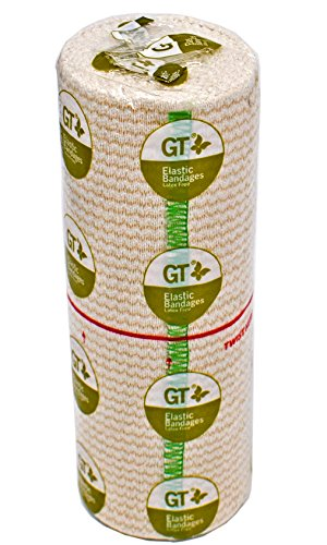 "Gt Usa Organic Elastic Bandage Wrap (6"" Wide, 1 Pack) 