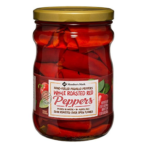 Member's Mark Whole Roasted Red Peppers 33.5 oz. (pack of 4) A1