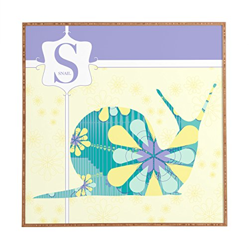 "Deny Designs Jennifer Hill, Miss Snail, Framed Wall Art, Small, 12""x 12"""