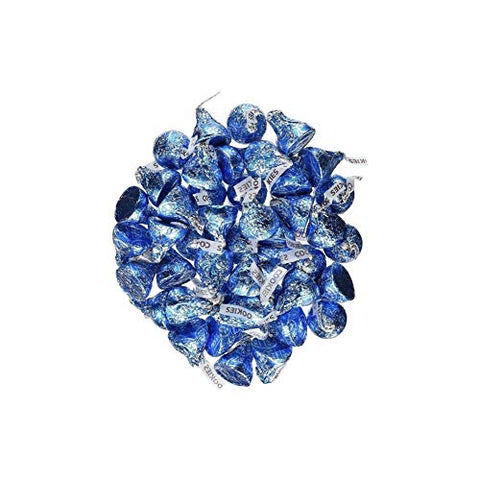 Hershey's Kisses 2 pounds Bulk Bag Cookies N' Creme Blue Foiled Wrapping Approx. 200 Kisses