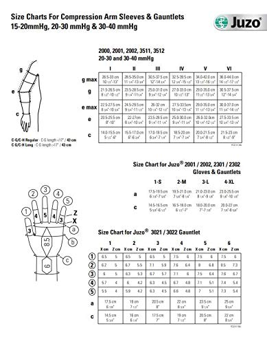 Juzo Soft 2001 20-30mmhg Compression Gauntlet with Thumb Stub