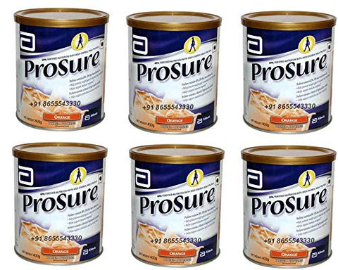 6 x 400 gm Abbott Prosure Orange for Weight Gain Nutrition Cachexia Lean Mass Gain Anorexia
