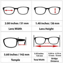 Image of Reading Glasses 5.00 Black (SINGLE) F505 TruVision Readers