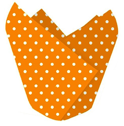 Orange with White Polka Dots Cupcake Wrappers Party Accessory