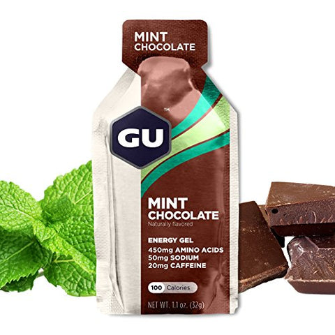 GU Energy Original Sports Nutrition Energy Gel, Mint Chocolate, 8 Count Box