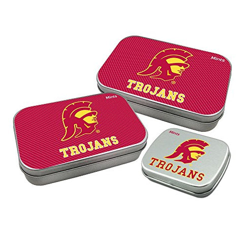 Worthy Promotional NCAA USC Trojans Decorative Mint Tin 3-Pack with Sugar-Free Mini Peppermint Candies